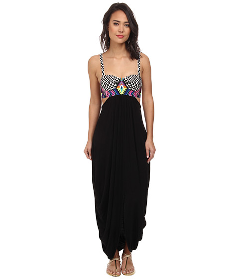 Mara Hoffman - Embroidered Maxi Dress (Black) Women's Dress