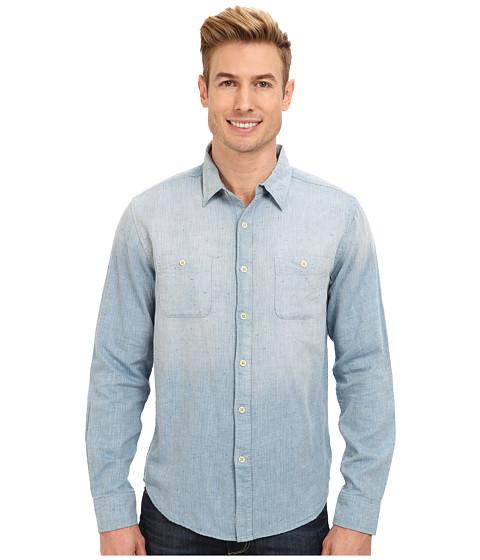Lucky Brand - Del Mar Two-Pocket Shirt (Light Blue) Men's Long Sleeve Button Up