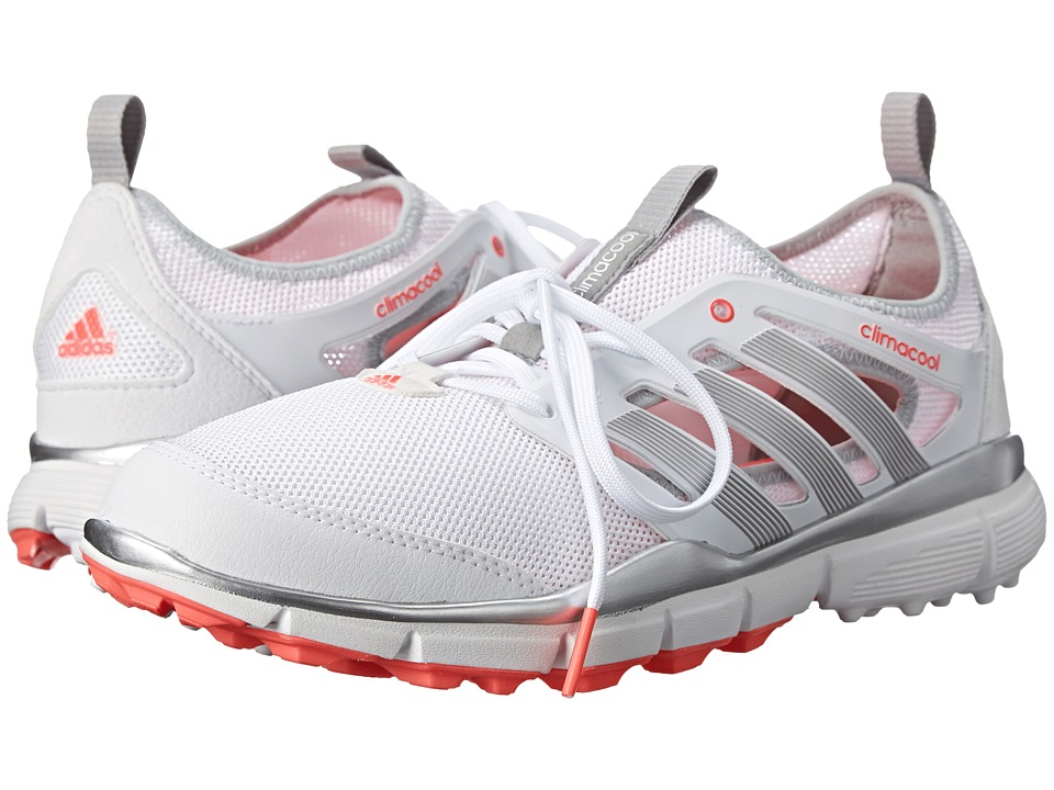 adidas Golf - Climacool II (Running White/Silver Metal/Flash Red) Women's Golf Shoes