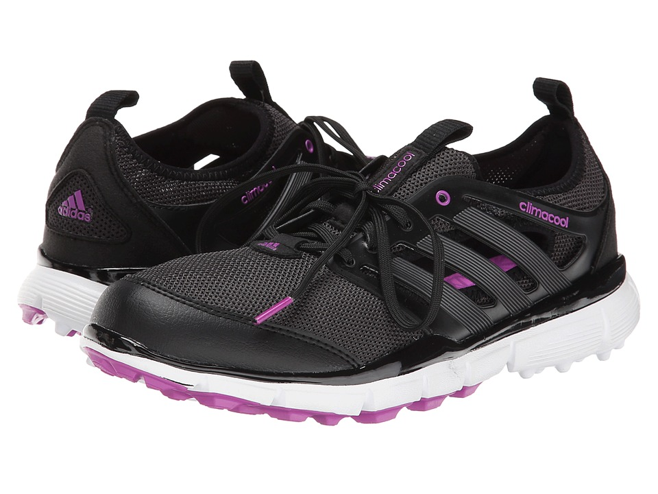 adidas Golf - Climacool II (Core Black/Iron Metallic/Flash Pink) Women's Golf Shoes