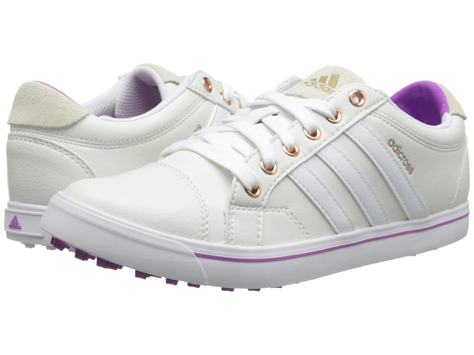 adidas Golf - Adicross IV (Tour White/White/Flash Pink) Women's Golf Shoes