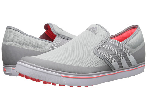 adidas Golf - Adicross SL (Clear Onix/Running White/Flash Red) Women's Golf Shoes