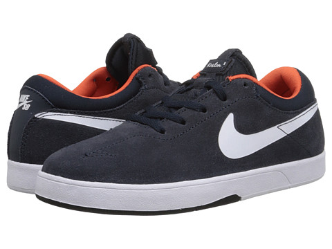 Nike SB Kids - Eric Koston (Little Kid) (Dark Obsidian/Team Orange/White) Boys Shoes