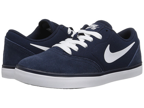 Nike SB Kids - SB Check (Big Kid) (Obsidian/White) Boys Shoes