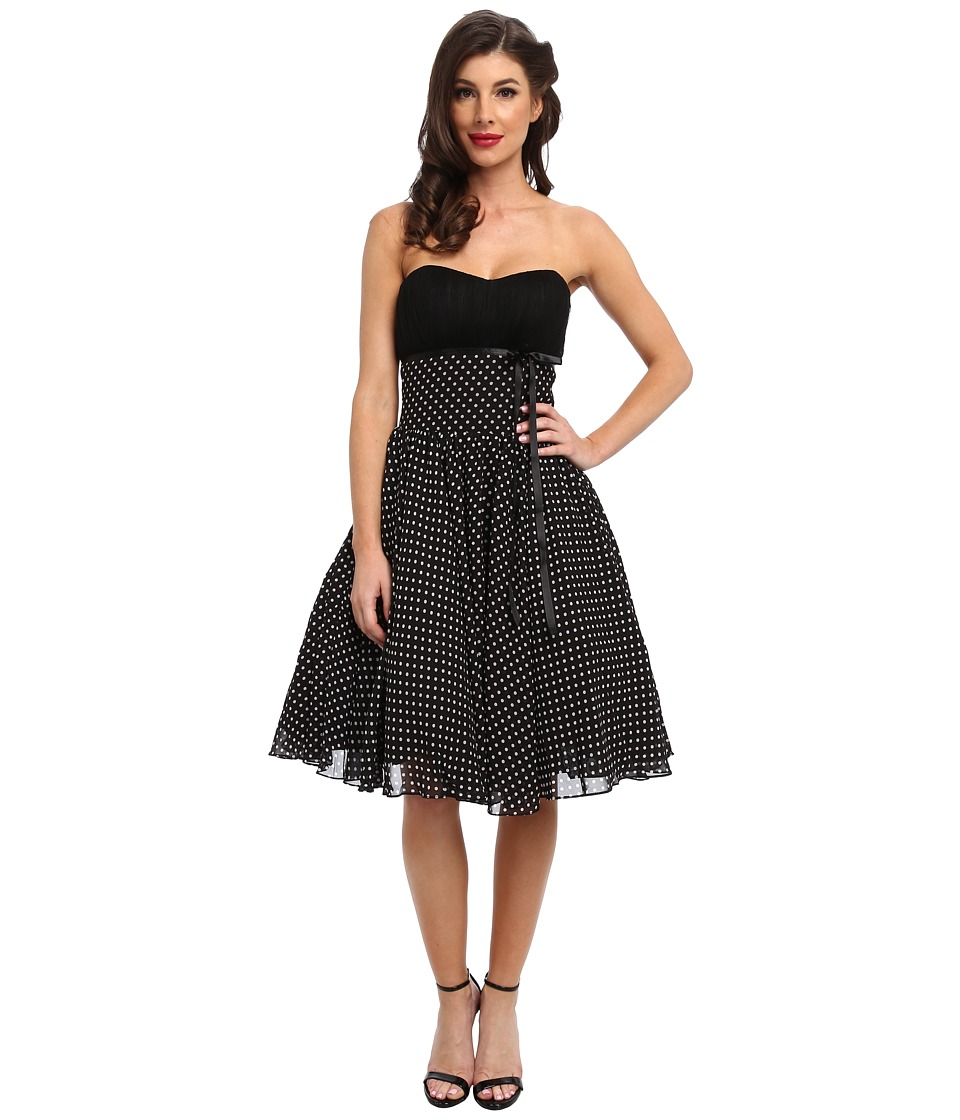 Unique Vintage - Dixie Swing Dress (Black Dot) Women's Dress