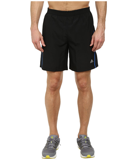adidas - Money 7 Running Short (Black/Flash Green) Men