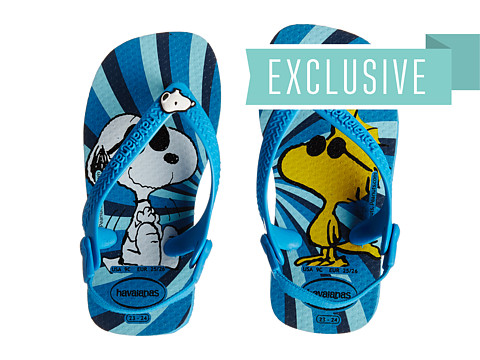 Havaianas Kids - Snoopy Flip Flop (Toddler) (Turquoise) Boys Shoes