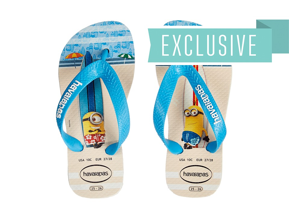 Havaianas Kids - Minions Flip Flop (Toddler/Little Kid/Big Kid) (White) Kids Shoes