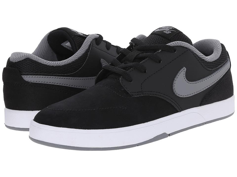 Nike SB Kids - SB Fokus (Little Kid) (Black/White/Cool Grey) Boy's Shoes