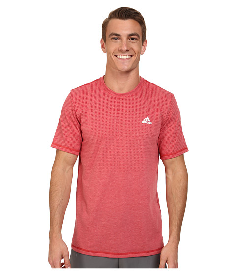 adidas - Aeroknit Short Sleeve Tee (Power Red Heather) Men