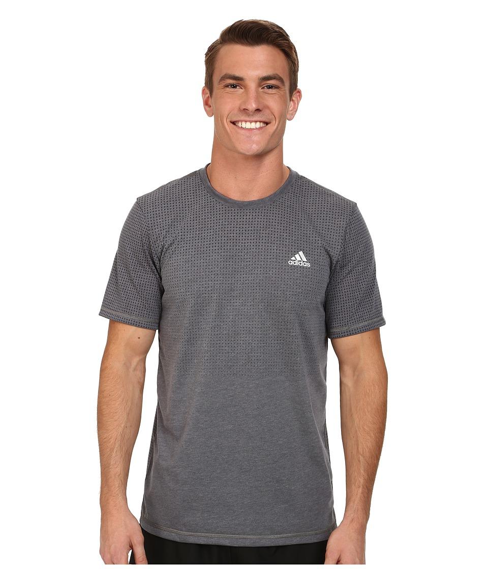 adidas - Aeroknit Short Sleeve Tee (DGH Solid Grey Heather) Men's T Shirt