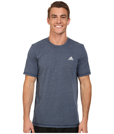 adidas - Aeroknit Short Sleeve Tee (Collegiate Navy Heather) Men's T Shirt