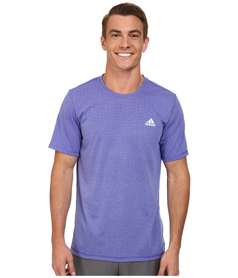 adidas - Aeroknit Short Sleeve Tee (Night Flash Heather) Men's T Shirt