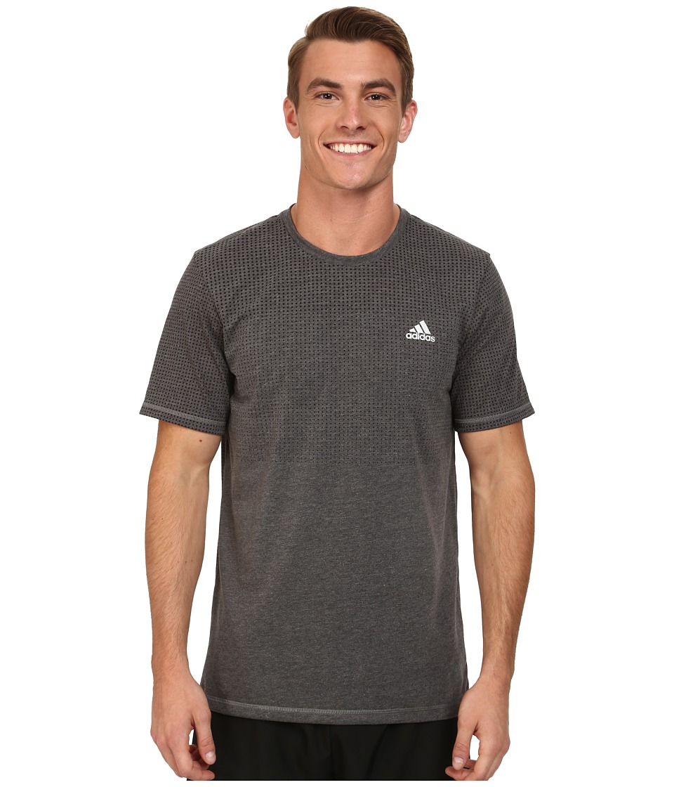adidas - Aeroknit Short Sleeve Tee (Black Heather) Men