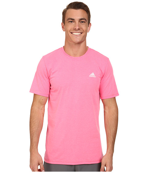 adidas - Aeroknit Short Sleeve Tee (Solar Pink Heather) Men's T Shirt