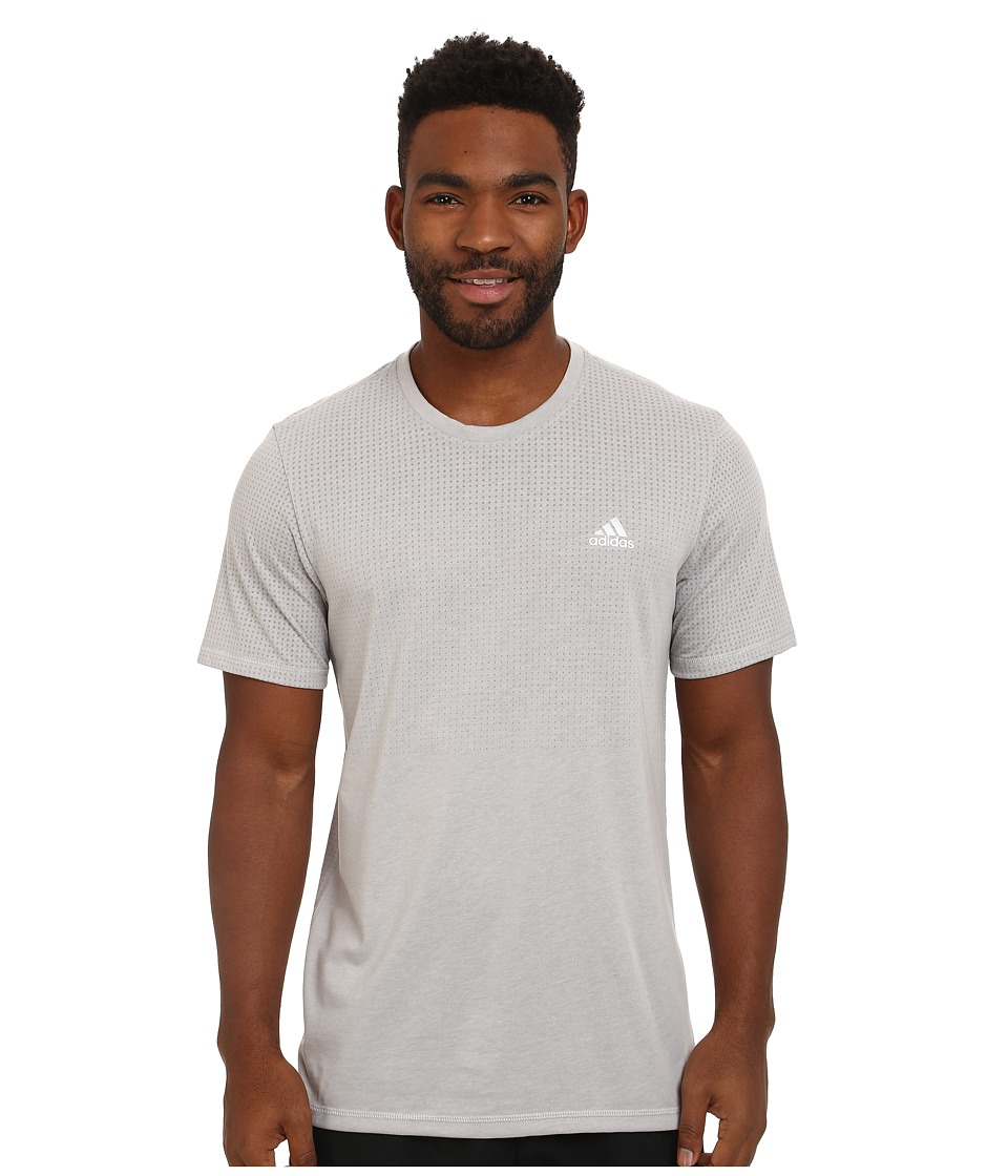 adidas - Aeroknit Short Sleeve Tee (MGH Solid Grey Heather) Men's T Shirt
