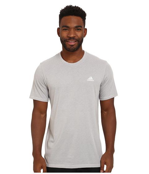 adidas - Aeroknit Short Sleeve Tee (MGH Solid Grey Heather) Men