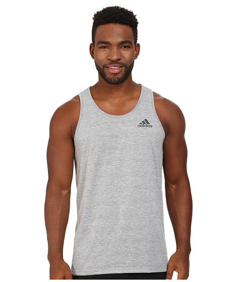 adidas - Ultimate Tank (Medium Grey Heather/DGH Solid Grey) Men
