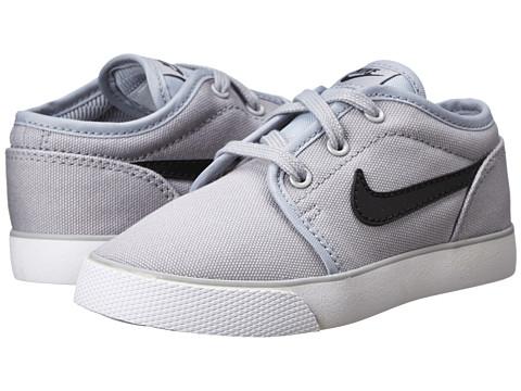 Nike SB Kids - Toki Low Canvas (Infant/Toddler) (Wolf Grey/White/Black) Boy's Shoes