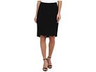 Adrianna Papell Pencil Skirt w/ Binding Detail (Black)
