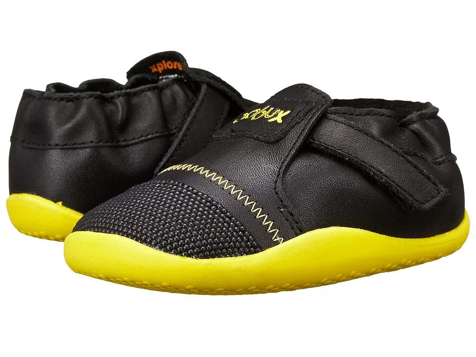 Bobux Kids - Xplorer Origin (Infant/Toddler) (Black/Yellow) Kid