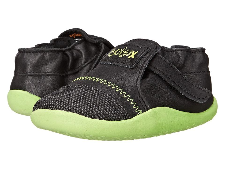 Bobux Kids - Xplorer Origin (Infant/Toddler) (Black/Lime) Kid's Shoes