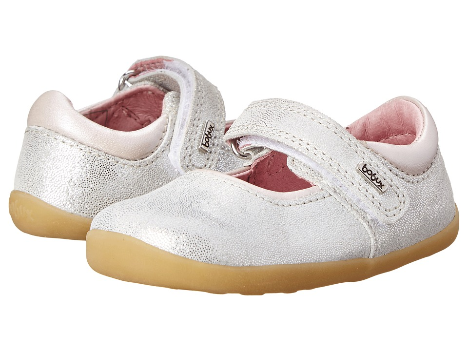 Bobux Kids - Step Up Shiny Dancer Mary Jane (Infant/Toddler) (Silver) Girls Shoes