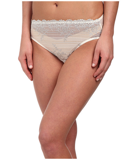 Wacoal - Embrace Lace Hi-Cut Brief (Gardenia/Lurex) Women