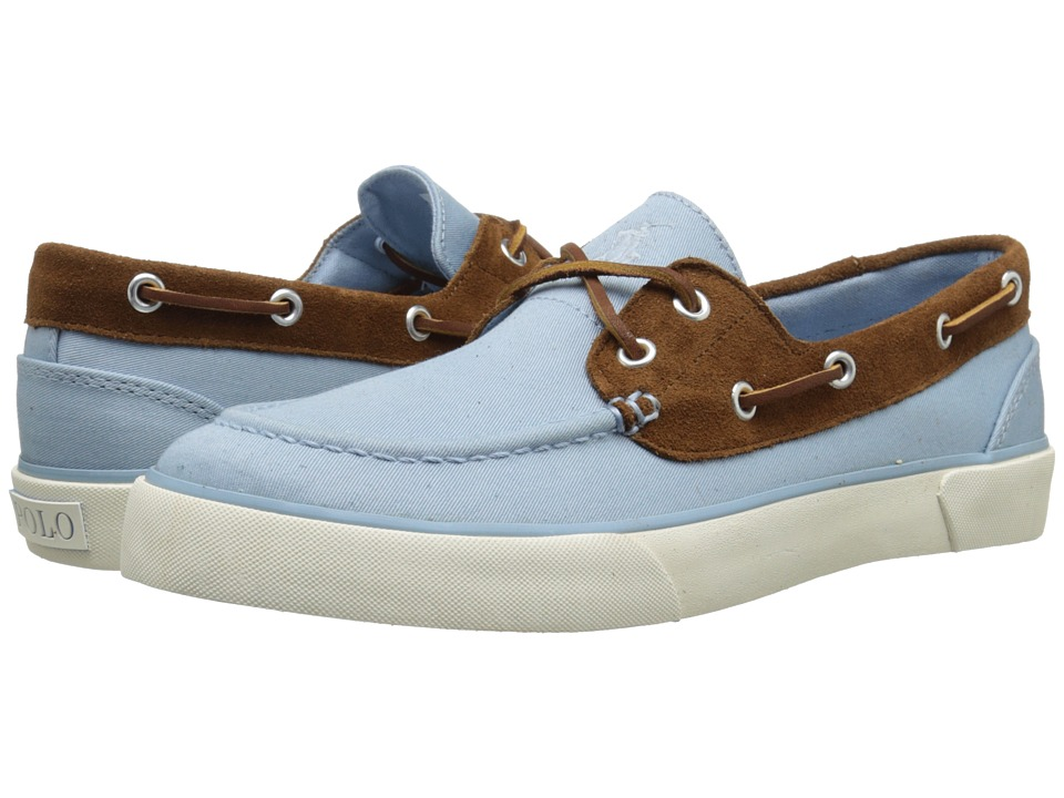 Polo Ralph Lauren - Rylander (Hampton Blue/New Snuff Preppy Chino/Sport Suede) Men's Shoes