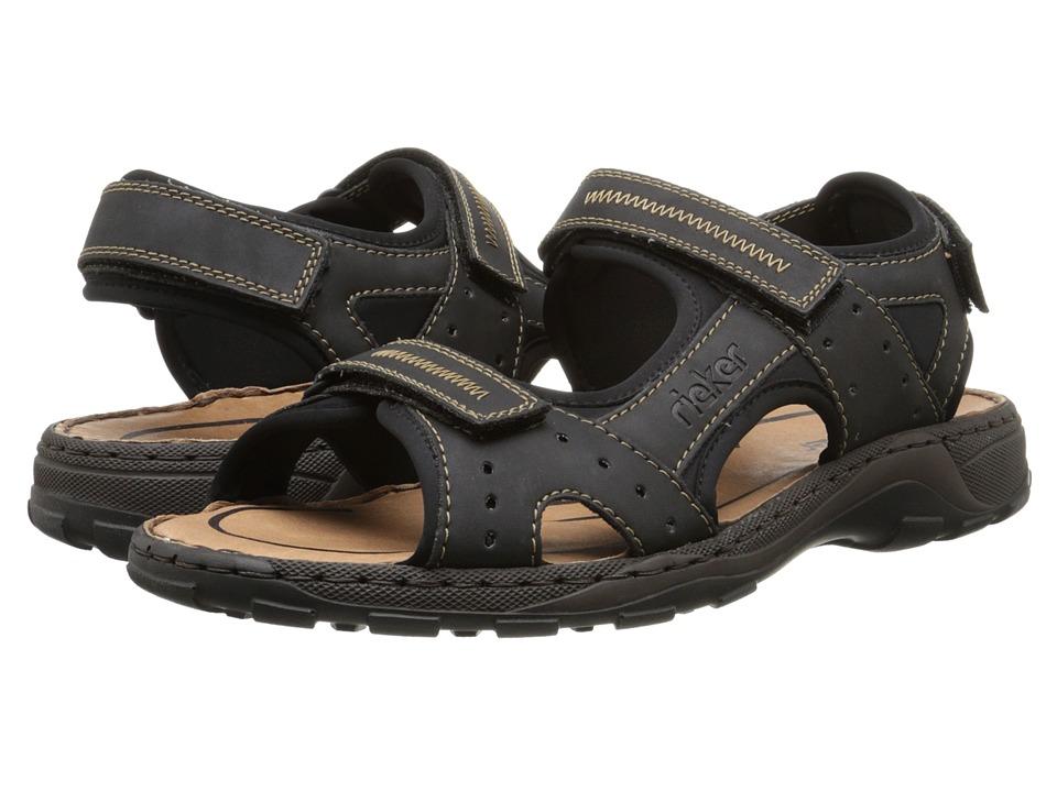 Rieker - 26061 Christian 61 (Black/Black) Men's Sandals