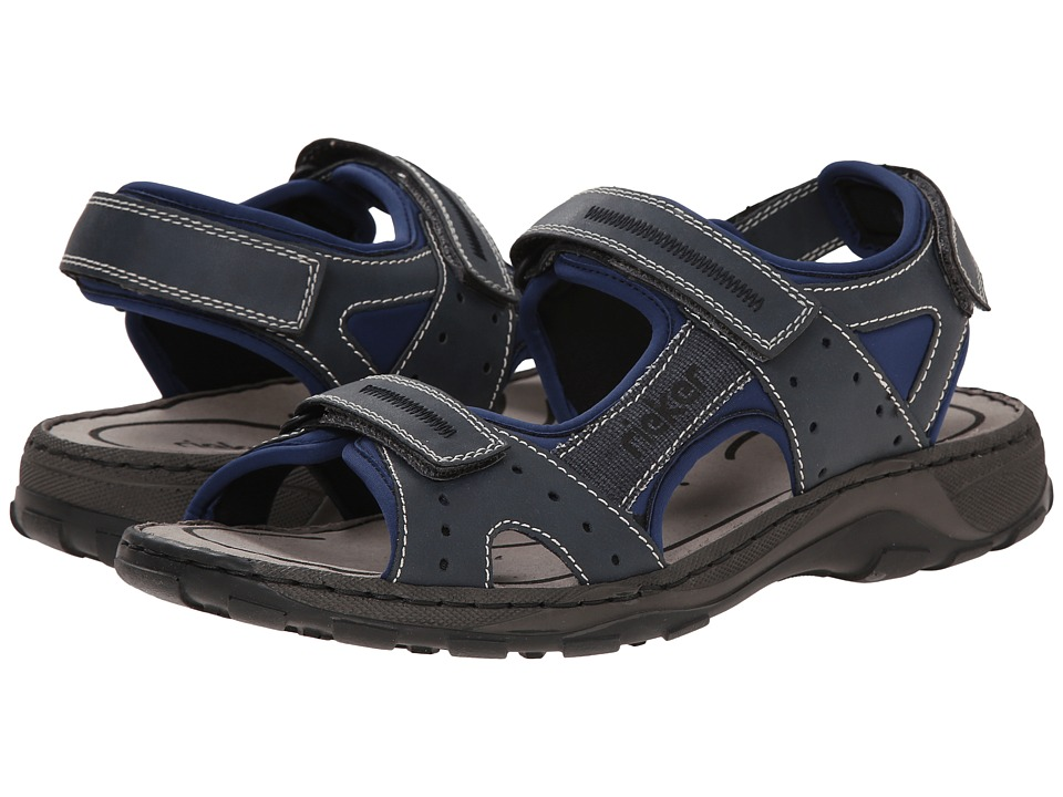 Rieker - 26061 Christian 61 (Denim/Denim/Ozean) Men's Sandals
