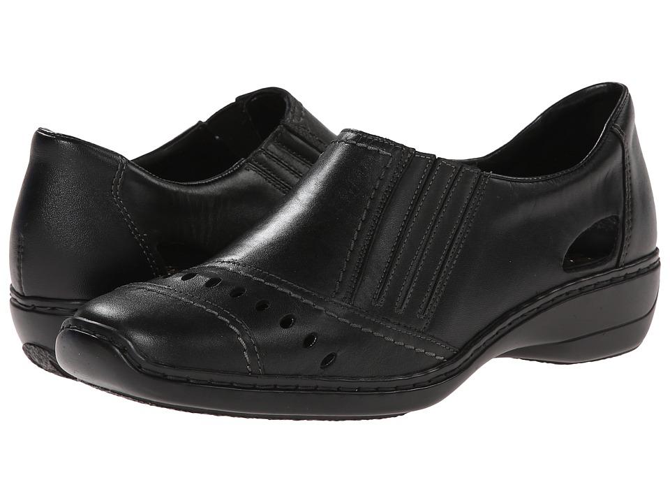 Rieker - 41349 Doris 49 (Black/Black) Women's Shoes
