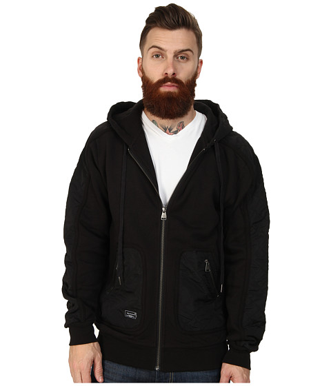 Crooks & Castles - Embezzler Knit Zip Hoodie (Black) Men