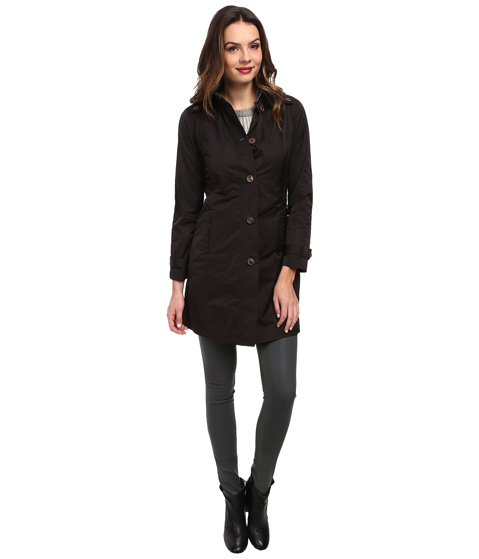 Rainforest - Packable S/B Trench Coat (Black) Women's Coat