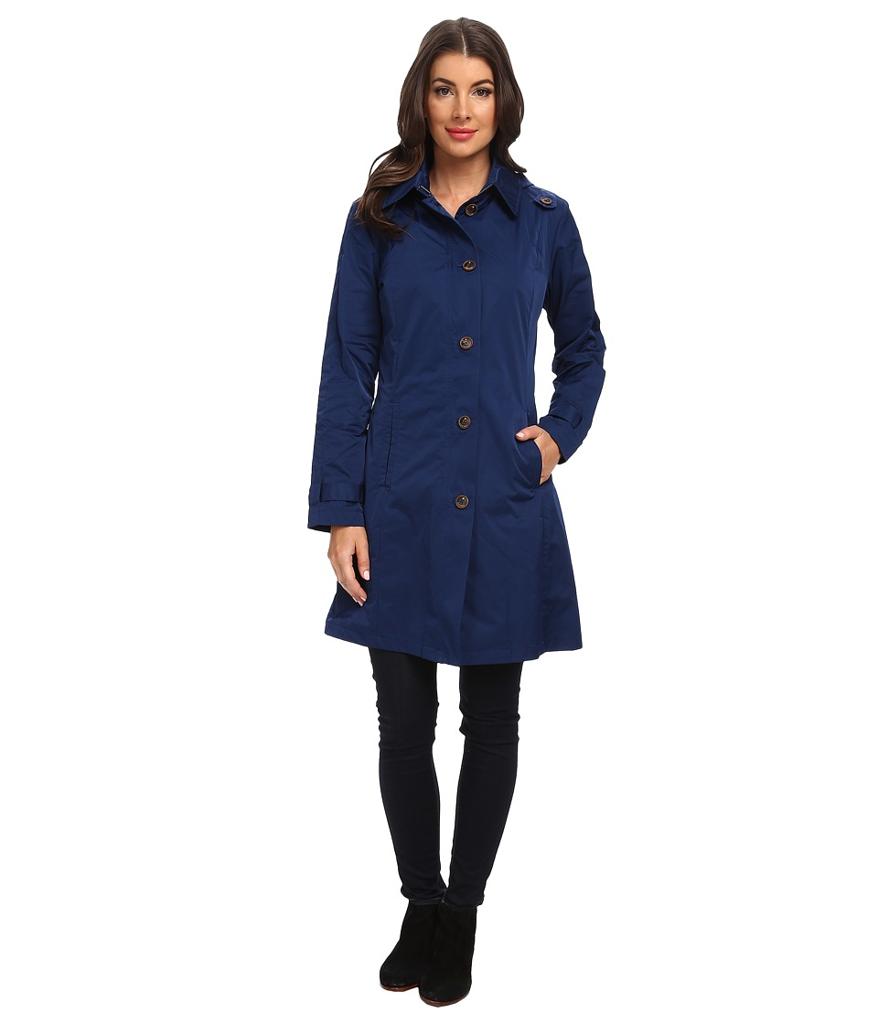 Rainforest - Packable S/B Trench Coat (Navy) Women's Coat