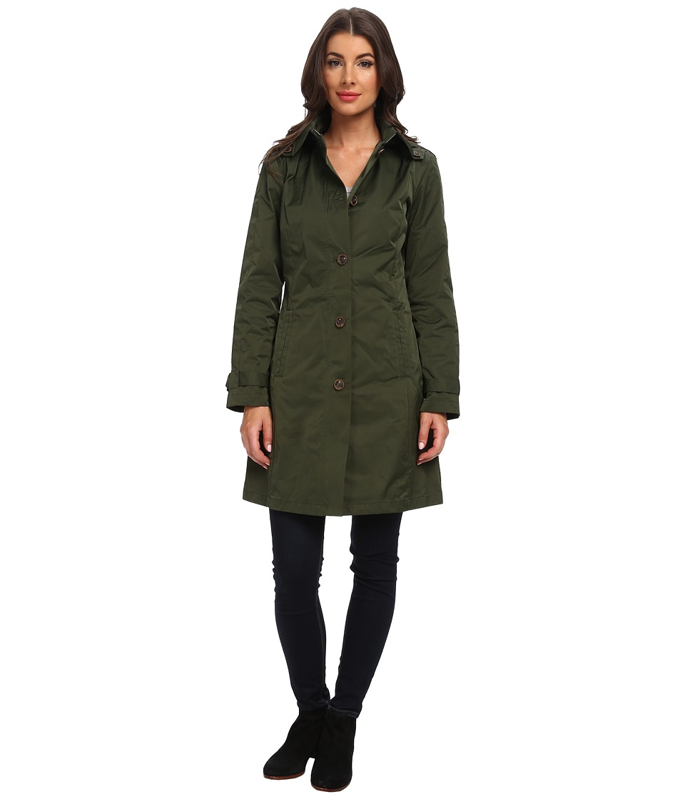 Rainforest - Packable S/B Trench Coat (Olive) Women's Coat plus size,  plus size fashion plus size appare