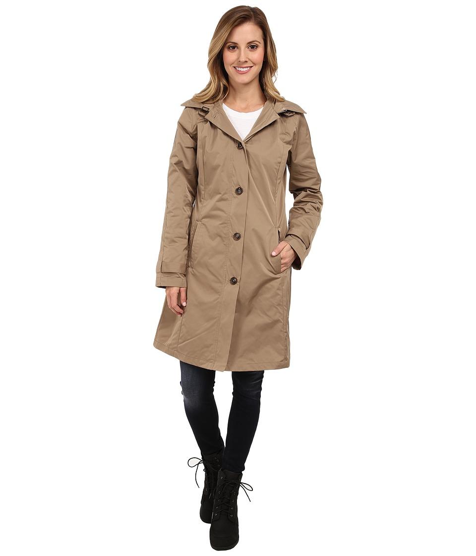 Rainforest - Packable S/B Trench Coat (Tan) Women
