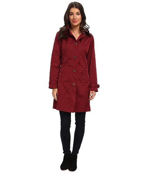 Rainforest - Packable S/B Trench Coat (Wine) Women's Coat