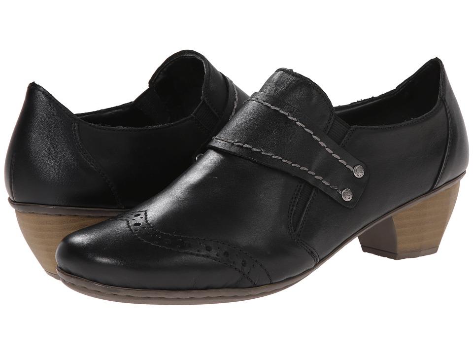 Rieker - 41712 Mariah 12 (Black/Black) Women's Shoes