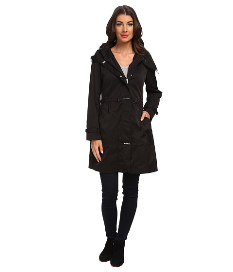 Rainforest - Packable Long Anorak (Black) Women's Coat