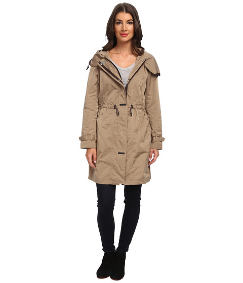 Rainforest - Packable Long Anorak (Tan) Women