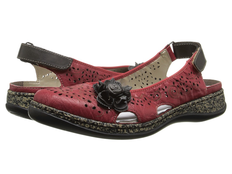 Rieker - 46337 Daisy 37 (Rosso/Graphit) Women's Slip on Shoes
