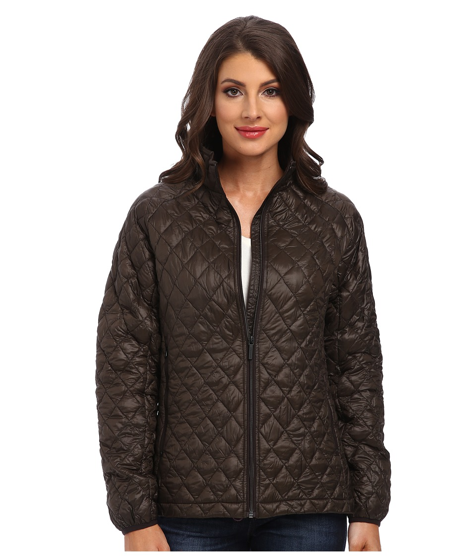 Rainforest - Zip Front ThermoLuxe Quilt Jacket (Caviar) Women's Coat