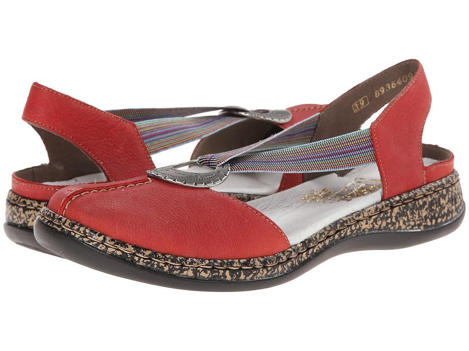 Rieker - 46362 Daisy 62 (Fire) Women's Slip on Shoes