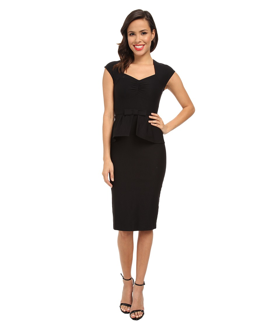 Stop Staring! - Peblum Dress (Black) Women's Dress