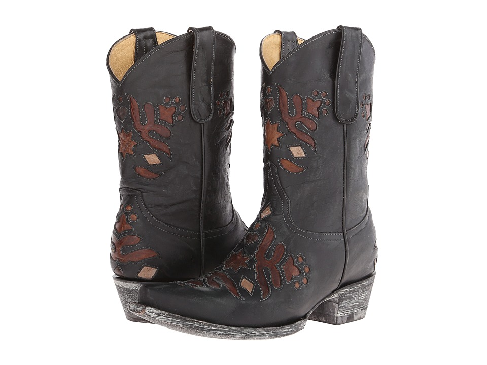 Old Gringo Kerville (Black/Brass) Cowboy Boots