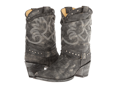 Old Gringo - Amarilla (Crackled Black) Cowboy Boots