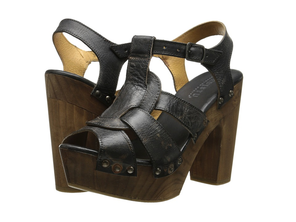 Bed Stu - Melissa (Black Rustic Rust BFS) Women's Dress Sandals
