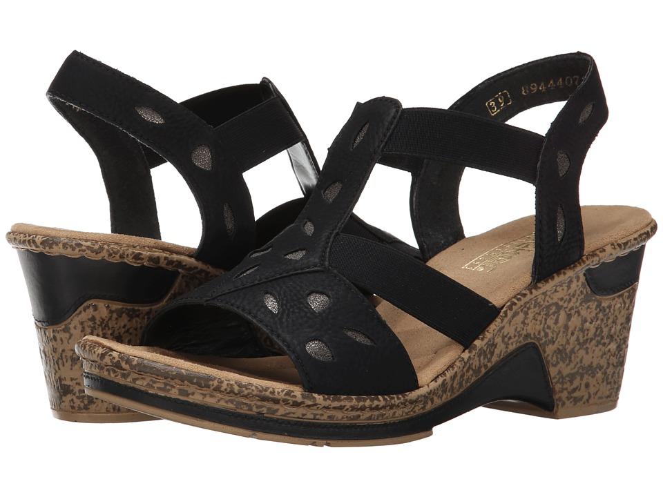 Rieker - 60685 Roberta 85 (Schwarz/Stromboli) Women's Shoes