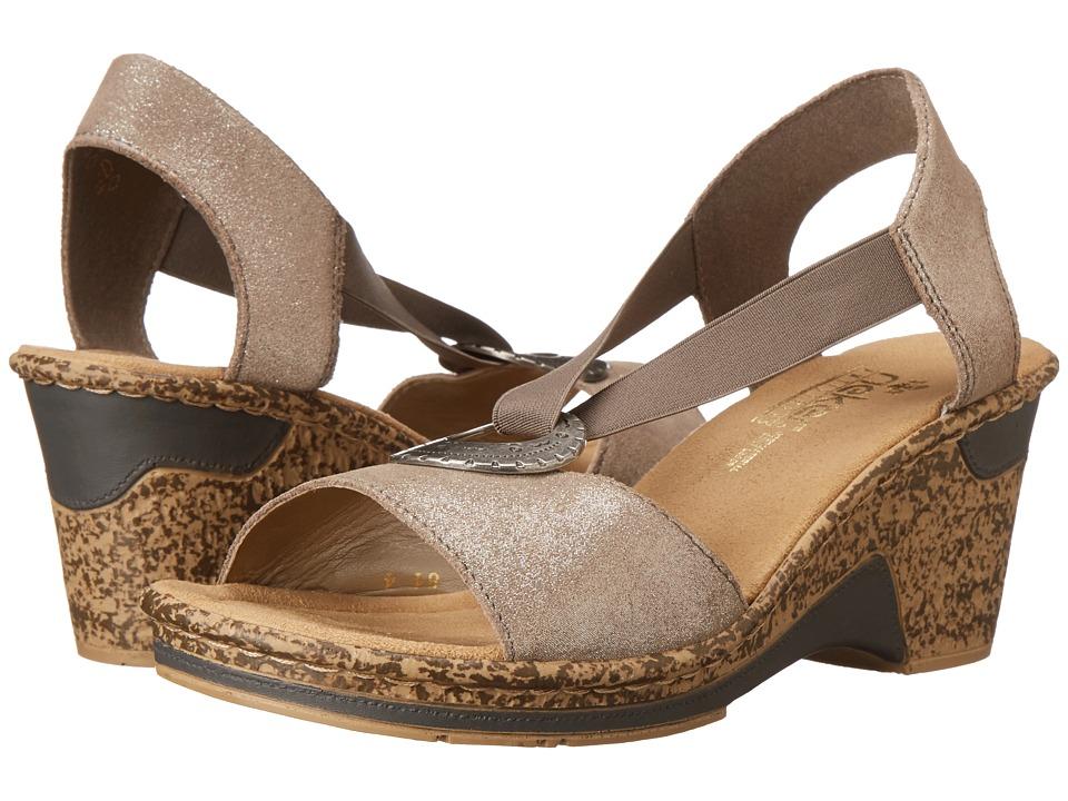 Rieker - 60662 Roberta 62 (Maus/Beige) Women's Sandals